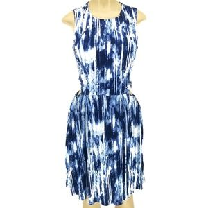 MICHAEL Michael Kors Blue & White Tie-Dye Dress